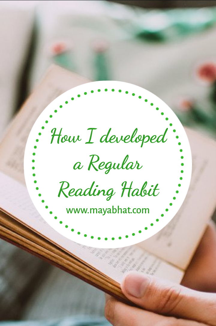 How to develop a regular reading habit