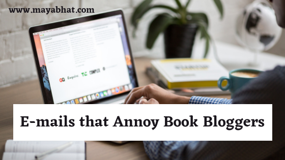 E-mails that Annoy Book Bloggers