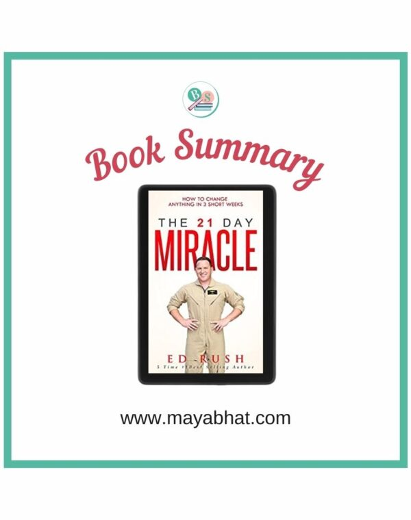 The 21 day miracle book summary