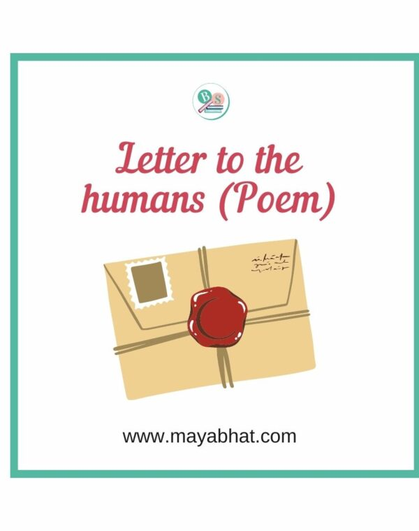 Letter to the humans