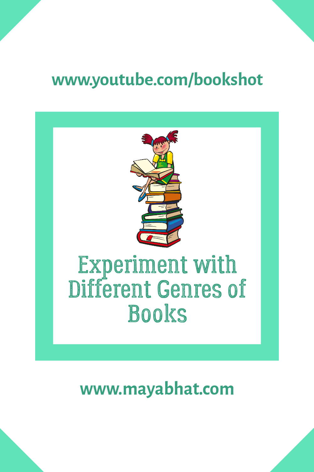 Experiment with different genres of books